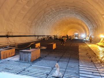 별내선(8호선연장) 2공구 건설공사 2021년04월21일 터널1구간 인터브 철근 가공 및 조립