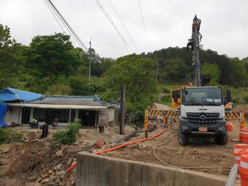 진접선(4호선연장) 차량기지 2공구(차량기지) 건설공사 2021년04월29일 개천내기#8