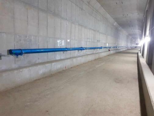 별내선(8호선연장) 1,2공구 건설공사(소방공사) 2021년05월02일 지하2층-본선1터널 연결송수관 설치