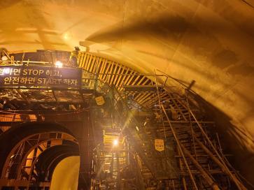 별내선(8호선연장) 2공구 건설공사 2021년09월10일 터널1구간 라이닝 타설