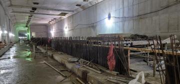 별내선(8호선연장) 1,2공구 건설공사(기계공사) 2021년09월17일 지하2층 토목구조물 시공중